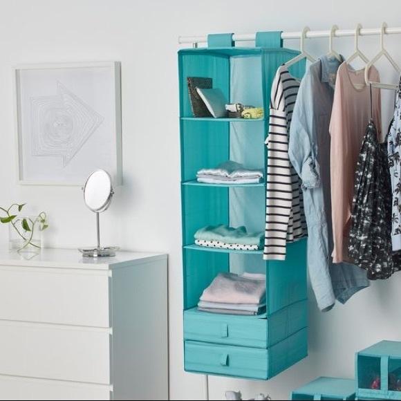 IKEA SKUBB Teal 6-Pocket Closet Organizer
